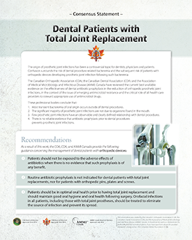 Dental Patients with Total Joint Replacement